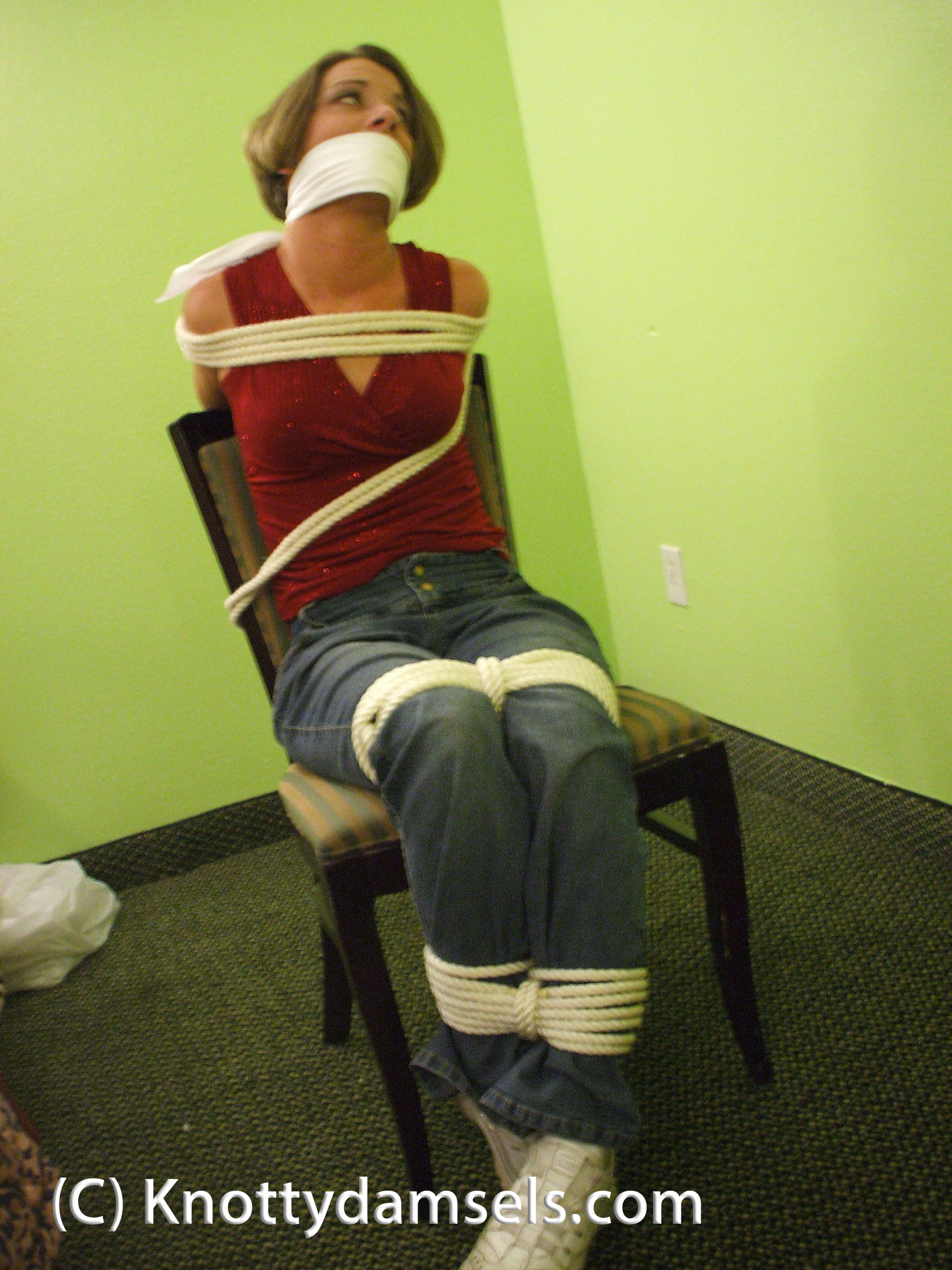 bound gagged Lesbian and